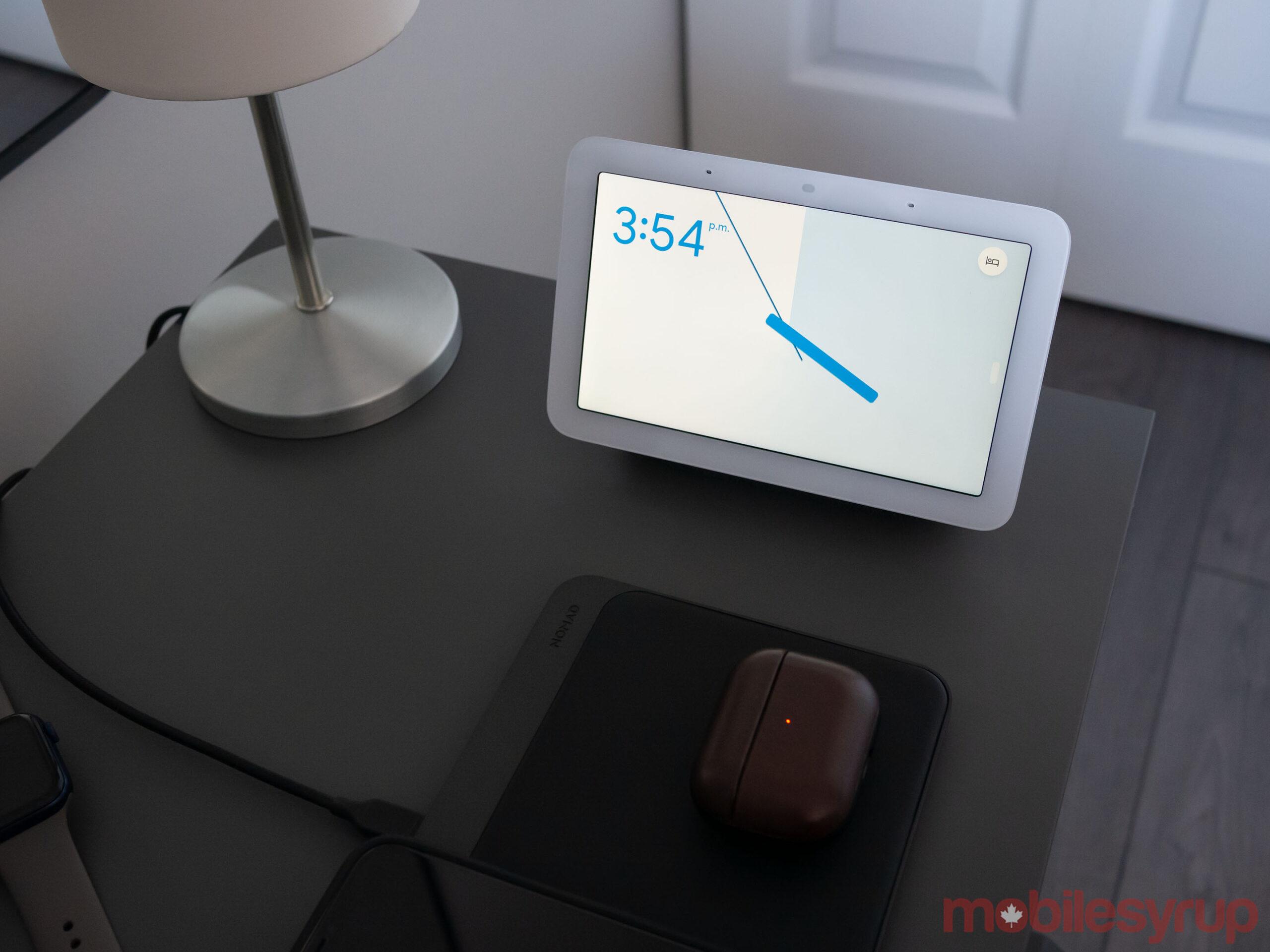Nest Hub (2021) on bedside table