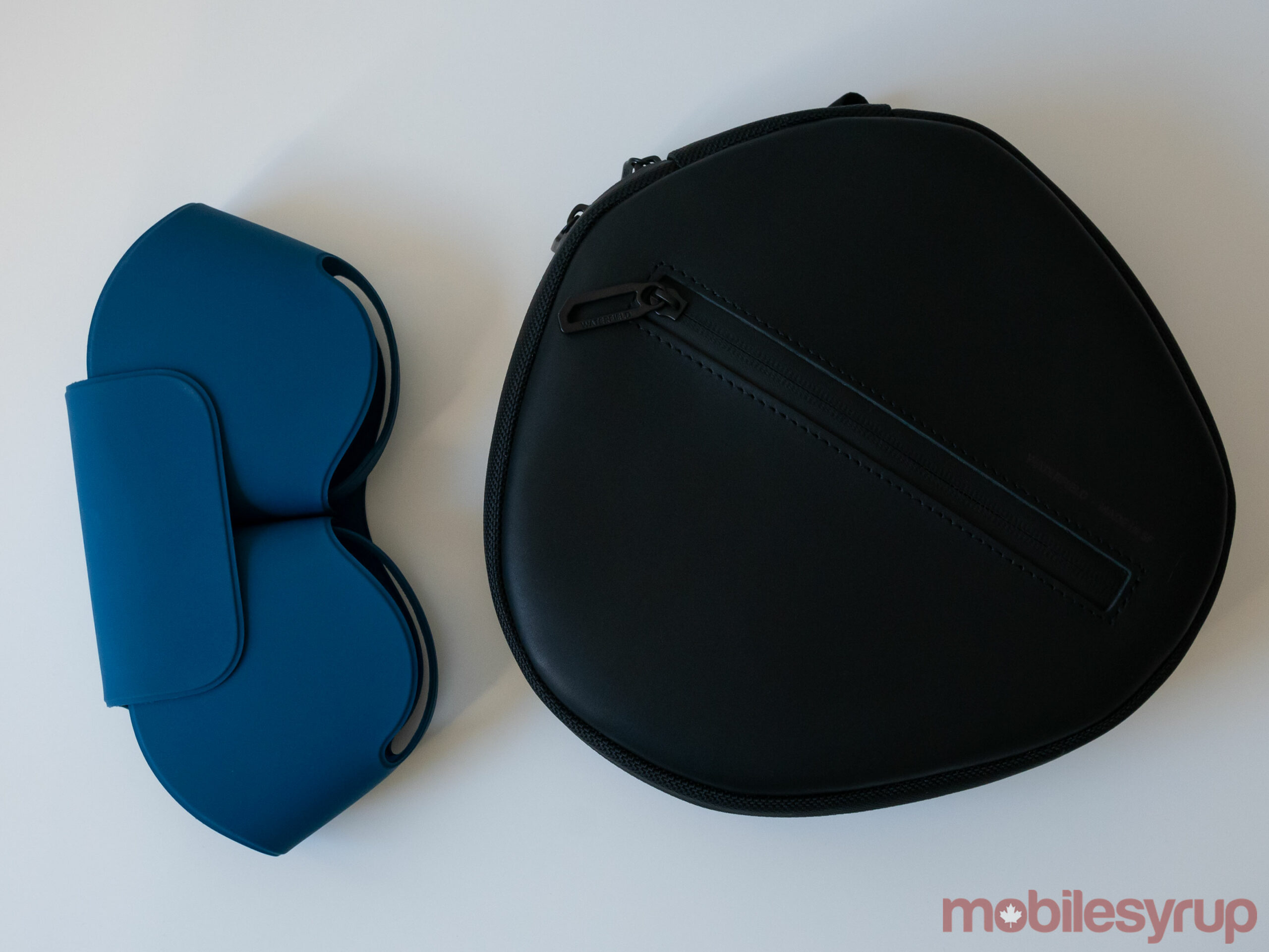 Waterfield's AirPods Max Shield Case beside the Smart Case