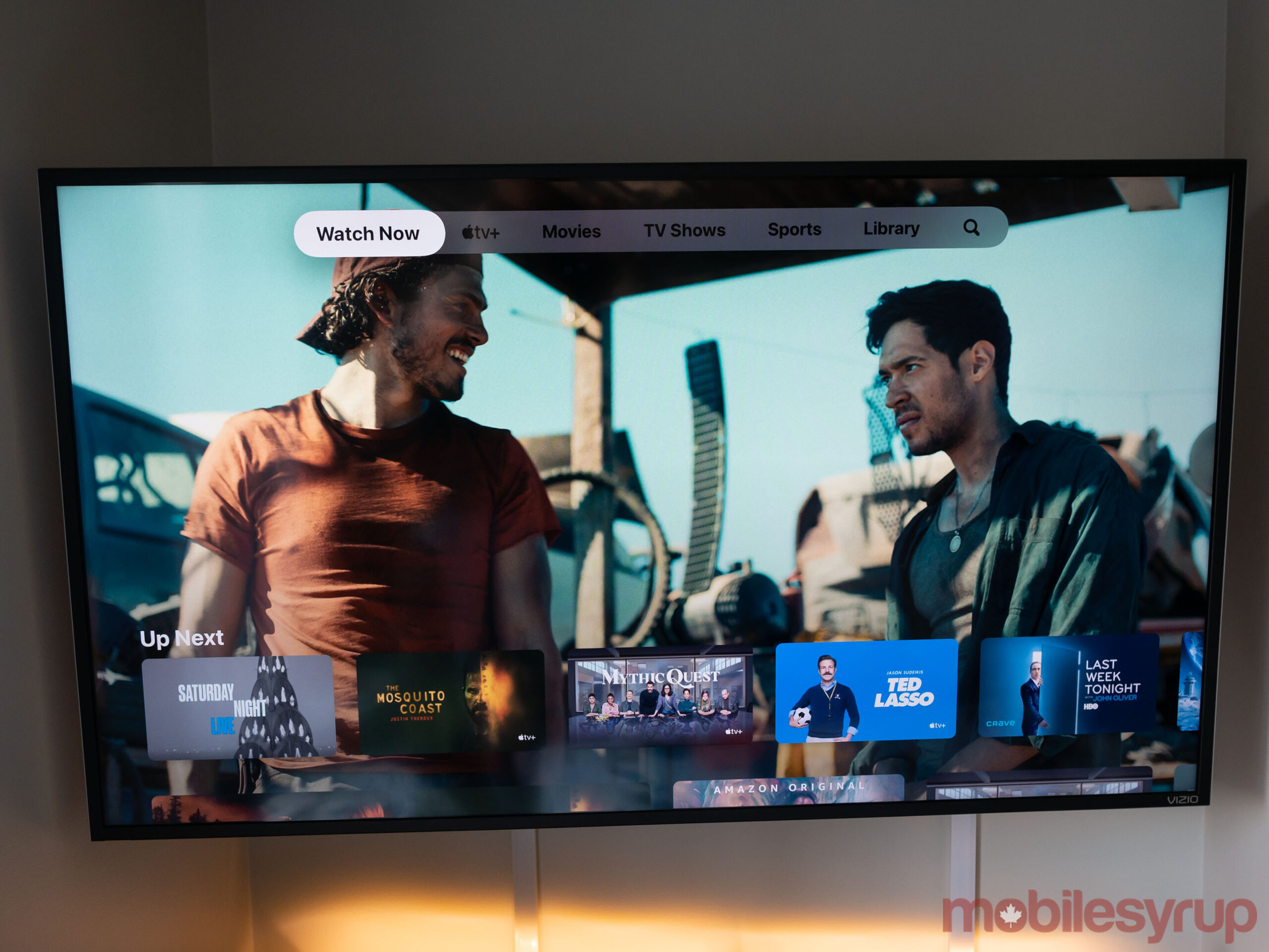 Apple TV 4K 2021 running Apple TV+