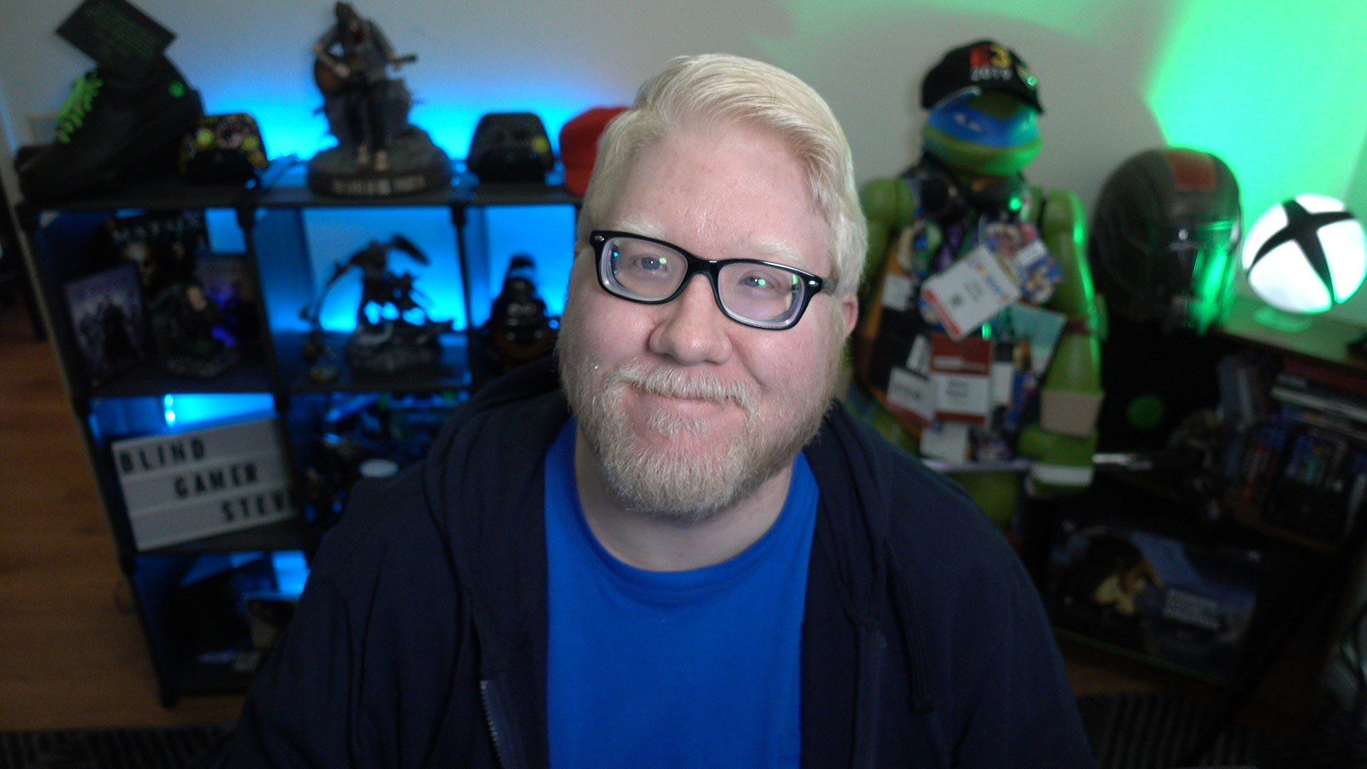 Steve Saylor in gaming room